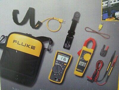 Fluke Fluke-116323 Kit Hvac Multimeter Clamp Meter Combo Kit In A Carry Case