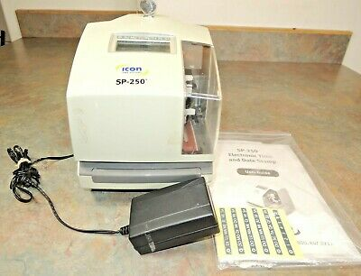 Icon Time Systems Sp-250 Electronic Time And Date Stamp Manual Key Sp250
