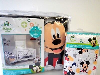 - Disney Baby Mickey Mouse Pluto 5 Piece Crib Bedding Set