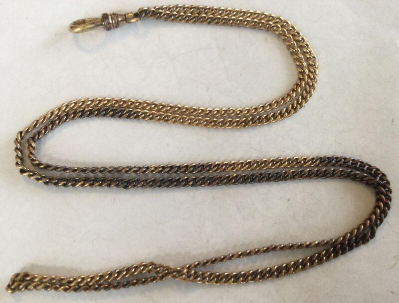 Really Cool Rare Vintage Estate Antique Gold Filled Pocket Watch Chain AZ88