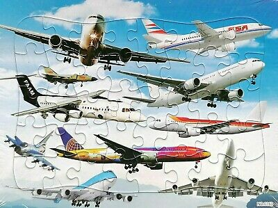Early Learning Cars Motor Aircraft 40 Pcs Jigsaw Puzzles Best Gifts for Kids