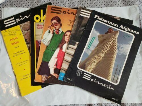 Lot 5 Spinnerin Knitting Magazines Pattern Instructions Vintage
