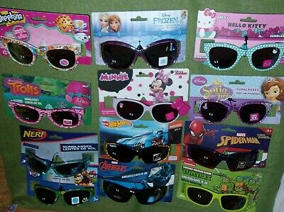 Childrens Sunglasses Disney Frozen Minnie Hot Wheels Spiderman Turtles U (Hot Wheels Sunglasses)