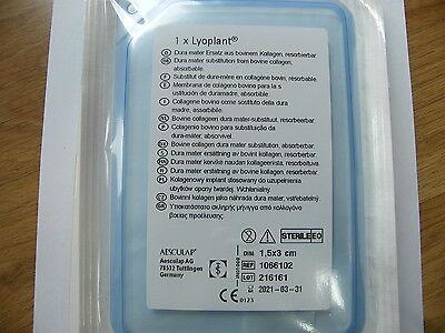 Lyoplant pure collagen implant 1x 15mm*30mm Neurosurgery Germany B. BRAUN
