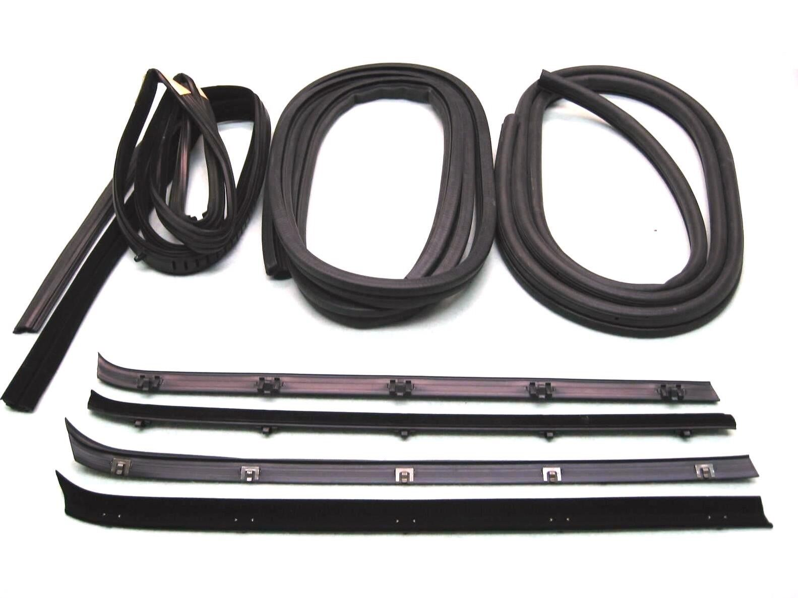 73-80 C//K Truck Window Felt Channel Belt Rubber Weatherstrip Door Seal 8 pc Kit