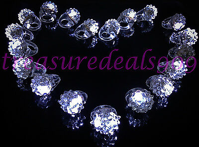 12 pcs LIGHT UP JELLY RINGS WHITE LED FLASHING PARTY FAVORS WEDDING BACHELORETTE](Light Up Jelly Rings)