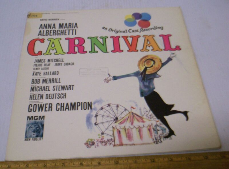 CARNIVAL!  MGM Records Original Broadway Cast Recording