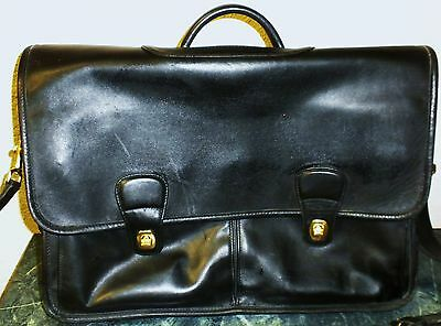 Buy coach briefcases. - Preowned Coach Navy Leather Briefcase / Laptop Bag