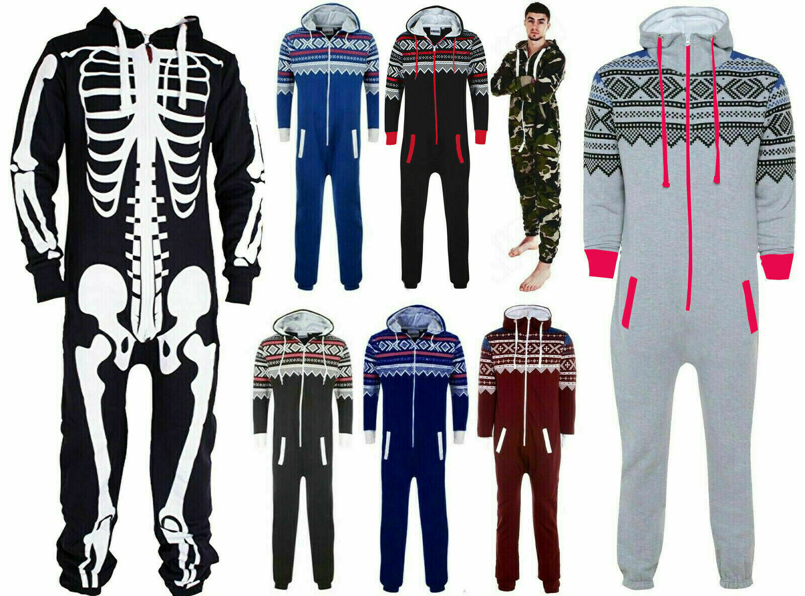 New with tag one piece Men/'s Camouflage Aztec All In One Jumpsuit Small to 5XL