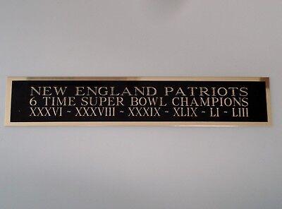 Patriots 6X Champions Nameplate For A Football Helmet Display Case 1.5 X (Champions Helmet Case)