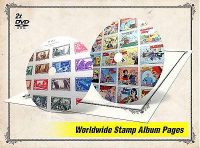ULTIMATE PRINTABLE WORLD STAMP ALBUM PAGES DVDs (39.000+ PDF color illustr. pgs)
