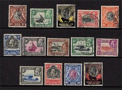 Kenya Uganda & Tanganyika GV 1935-37 set Used