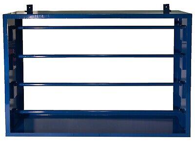 Mountable Heavy Duty Blue Steel Wire Roll Spool Rack Dispenser 27 X 18-14
