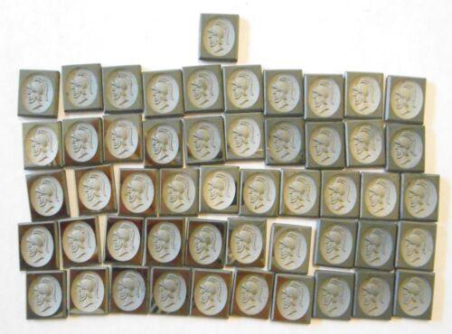 51 Hematite Intaglio Cut 11x9mm Stones Greek Roman Warrior for Jewelry Making