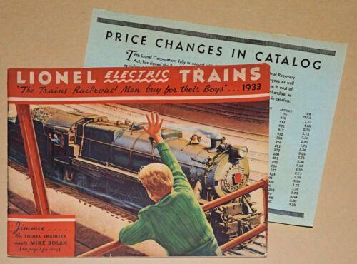 VINTAGE ORIGINAL 1933 LIONEL Electric Trains CATALOG Type II + PRICE INSERT