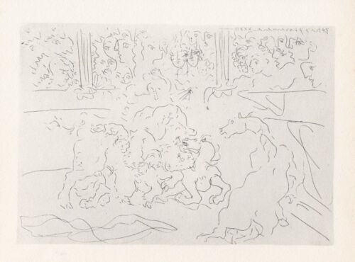 Pablo Picasso, Bullfight Wounded Torer, Vollard Suite