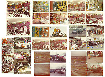 Vintage Photo Archive of WHITE'S PIT STOP Motorcycle & Hot Rod Car DRAG RACING
