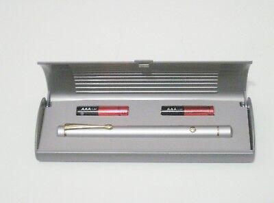 Atlasnova 650nm RED Laser Pointer Class IIIa <5mW Silver. Made in Taiwan.
