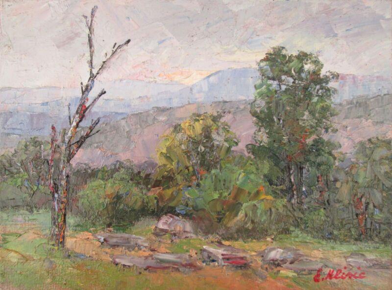 Original+Oil+Painting+Australian+Impressionist+Artist+Enoch+Hlisic+BUSH