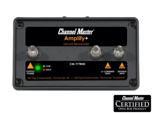 Channel Master AMPLIFY+ Adjustable Gain TV Antenna Amplifier for Professionals