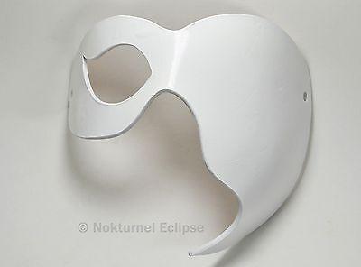 White Half Face Leather Mask Phantom of the Opera Halloween Masquerade Unisex