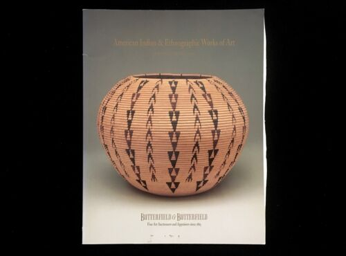 BUTTERFIELD AUCTION AMERICAN INDIAN & ETHNOGRAPHIC WORKS OF ART 1992  WASHO