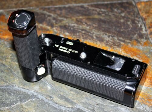 Canon Motor Drive MA + Battery Holder For A-1, AE-1. JAPAN Made.