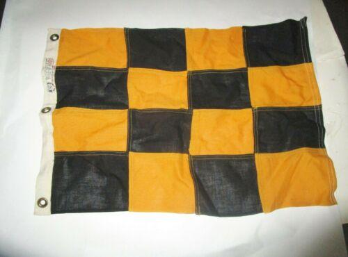 Vintage Nautical Signal Bull Dog Bunting flag Navy? military black gold