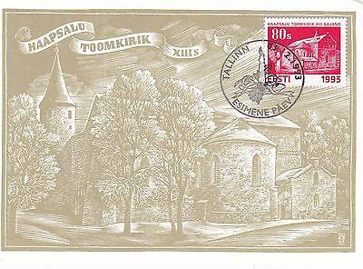 Estonia 1993 Christmas Churches  FDC Postcard Mint