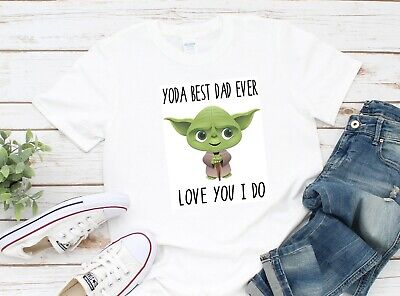 Yoda Best Dad Ever Love You I Do Fathers Day Gift Holiday Summer Star Wars