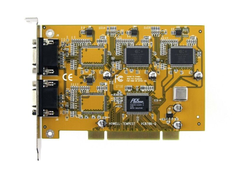 Conexant 878A - 8 Channel VIdeo Capture Card PCI-ANALOG, Incl. BNC CABLES
