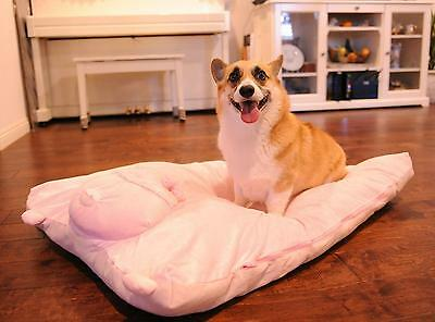 "Pet Mat Dog Bed Fleece Pig Cover W28"" X L42"" Soft Washable Large Do It Yourself"