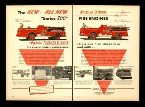 1956 American LaFrance Firetruck Advertisement Series 800 Engine Vtg Print AD