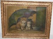 Antique Cat Painting