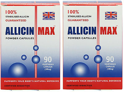 Allicin Max 90 Veg Caps (Pack of 2 - 180 Caps) - Max 90 Caps