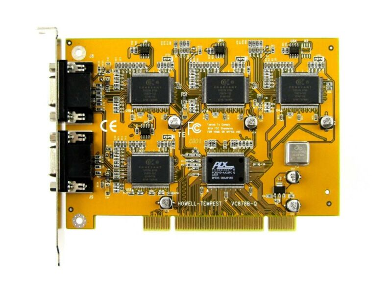 CONEXANT 878A - 12 CHANNEL - VCC, PCI -  INCL. BNC CABLES, ZoneMinder, Linux, XP