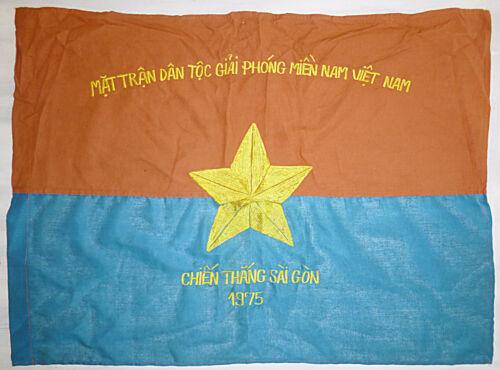 FALL of SAIGON - 1975 - NLF - VC FLAG - Viet Cong Car Flag - Vietnam War - 9697