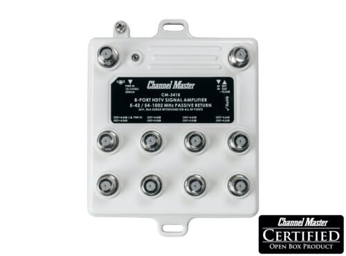 Channel Master Antenna Signal Booster Distribution Amplifier Ultra Mini CM-3418