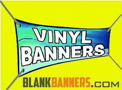 One 1 White 4 Ft. X 20 Ft. Sewn Vinyl Blank Banner Sign 13oz. 4x20 Grommets