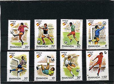 RWANDA 1982 Sc#1095-1102 SOCCER WORLD CUP SPAIN SET OF 8 STAMPS MNH
