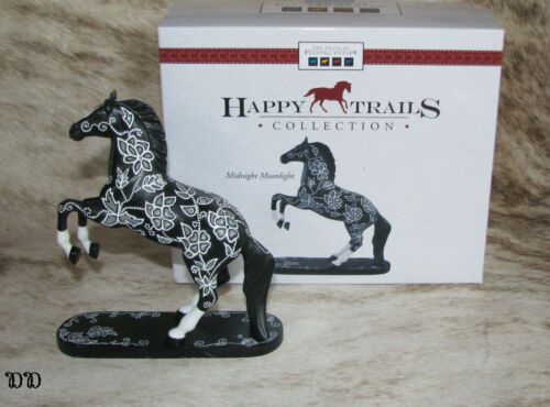 """TRAIL OF PAINTED PONIES Midnight Moonlight 5"""" Tall~Rare~Small Figurine~2012~"""