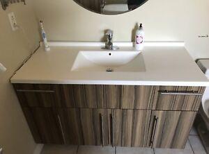 Lavabo + meuble + miroir