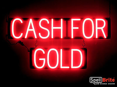 Spellbrite Ultra-bright Cash For Gold Sign Neon-led Sign Neon Look Led Power