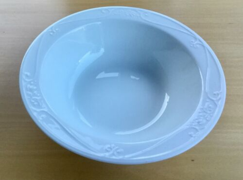 "VERANDA WHITE PRINCESS HOUSE 12-3/8"" SERVING BOWL Vegetable PASTA Salad"