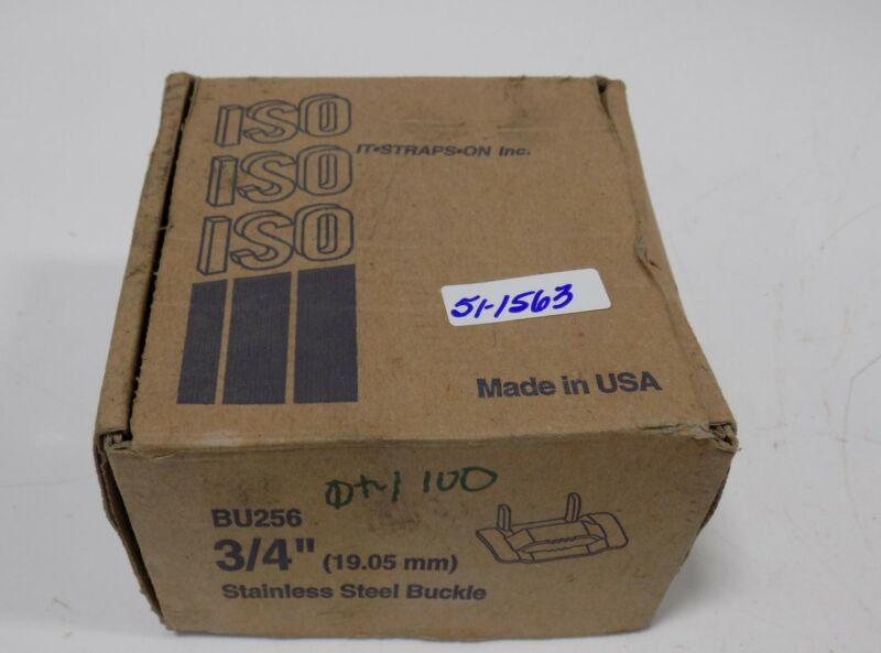 "ISO 3/4"" STAINLESS STEEL BUCKLES LOT OF 100   BU256 NIB"