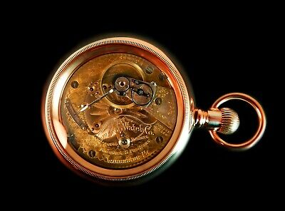 Mega Rare Antique Railroad 18s Hamilton 944 2-Tone Gold Pocket Watch