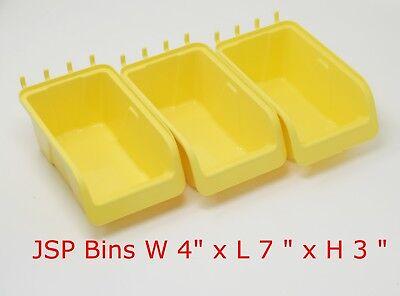 Jsp Storage Pegboard Bins - Plastic Pegboard Peg Hook Organizer Bin Kit Large