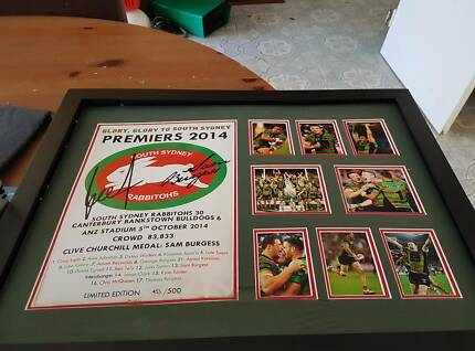 Rabbitohs 2014 Premiership SIgned Winner Limited Edition Photo