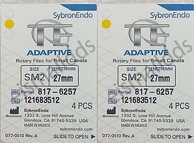 Sybron Endo Tf Adaptive 2 Boxes 8 Files Tf Adaptive Files Sm2 27mm Size 25.06