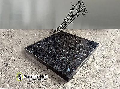 Labrador Blue Pearl 2cm stark Entkopplungsplatte Gerätebasis Lautsprecher Granit